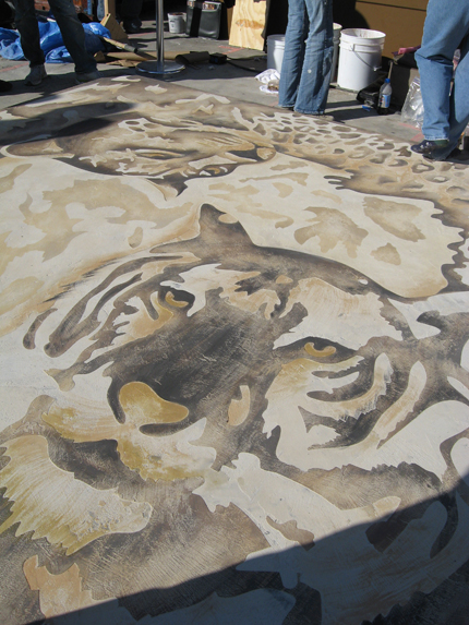Decorative Concrete Painting : Artistry in concrete with modello stencils paint pattern