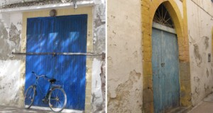 Blue Doors in Essaouira, Morocco