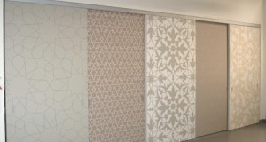 Behind Closed Stenciled Doors with Moroccan Pattern