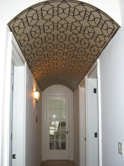 Looking Down The Barrel Stenciled Ceiling Paint Pattern