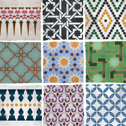 New Moroccan Stencils From Royal Design Studio Paint