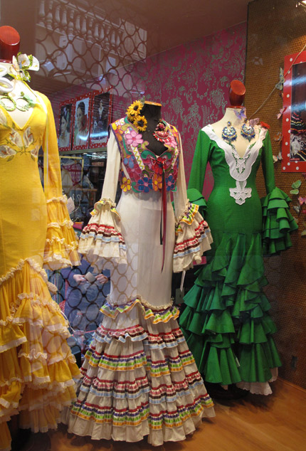 Flamenco Dress Up At La Feria De Abril Paint Pattern