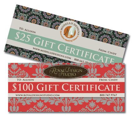 Modello Designs/Royal Design Studio Gift-Certificates