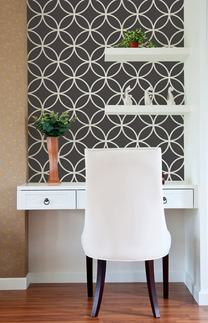 Wall Design With Stencils : Wall stencil modern paint pattern
