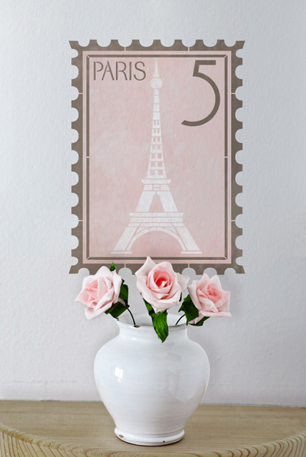 Wall-Stencil-French-Stamp