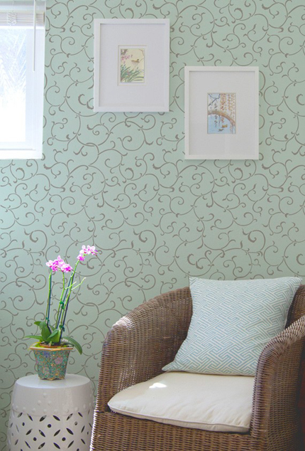 Wall Stencil-Allover vine