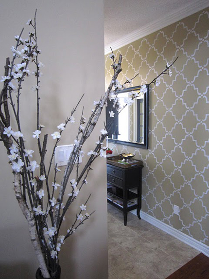 Wall stencil-trellis alternate