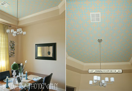 How to stencil on a ceiling