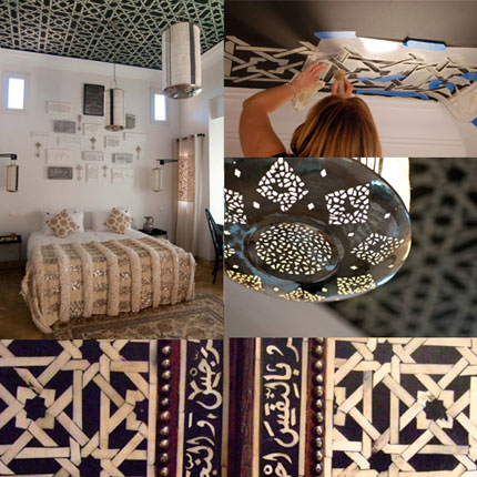 Moroccan stenciled ceiling