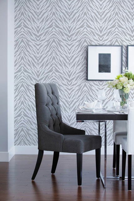 large zebra stripe wall stencil
