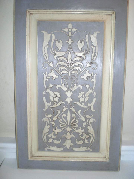 furniture stencil with chalk paint