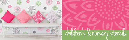 nursery and childs room stencils