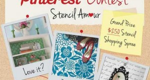 Stencil Amour Pinterest Contest