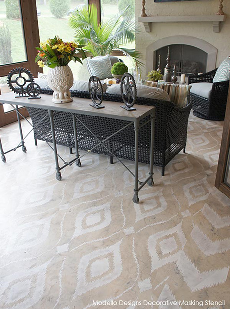 Image Result For Painted Concrete Floor Stencils