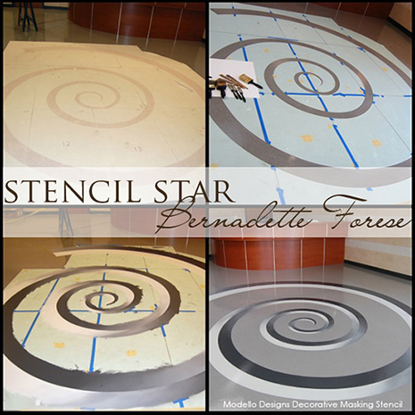 Stencil Star Bernadette Forese 39 S Stenciled Floors Paint