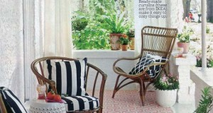 Stenciled Floor Feature in Better Homes and Gardens