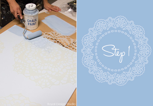 Lace Doily Stencil Canvas Art