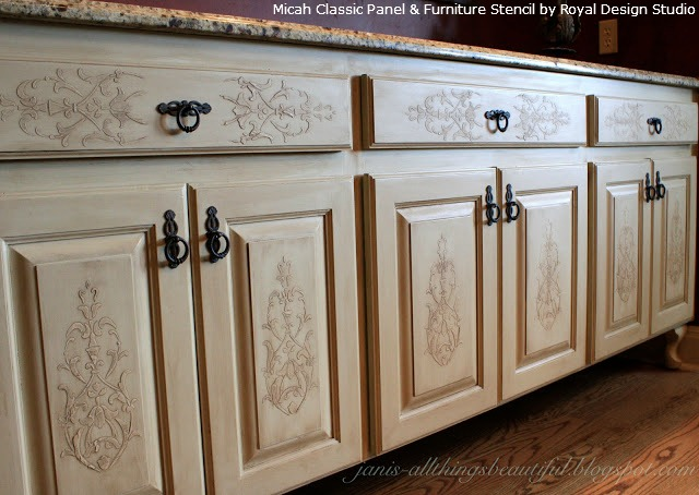 Embossed-Stenciling-on-Furniture-and-Cabinet-Doors-and-Drawers ...