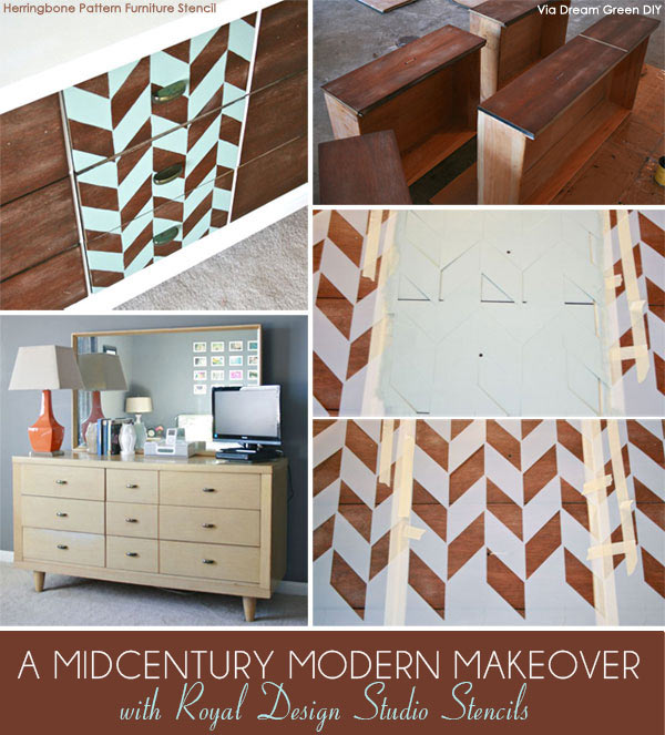 New A Painted & Stenciled Modern Furniture Makeover! - Paint + Pattern KC94