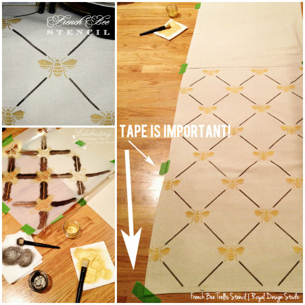 How To Stencil Tablecloth