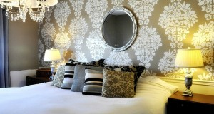Stenciled Feature Wall Designs!