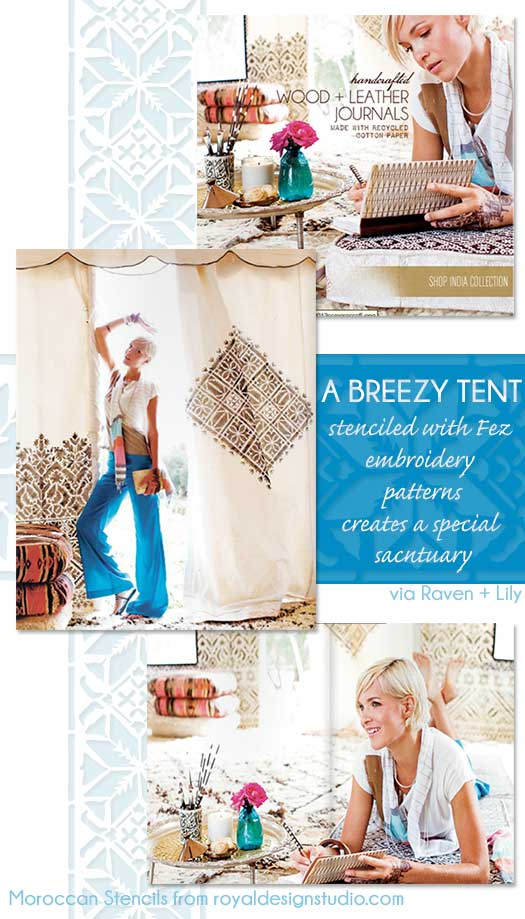 Moroccan-stencil-patterns-tent