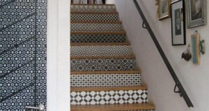 Royal Design Studio Stenciled Stair Flair in St. Louis Homes & Lifestyles!