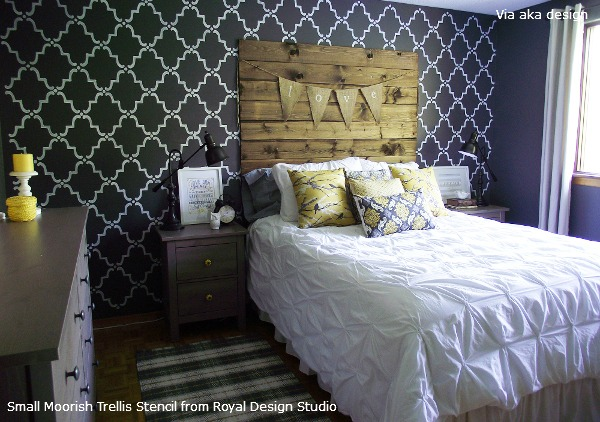Perfect Rustic_Chic_Master_Bedroom_with_Stenciling