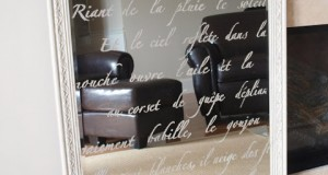 Stenciled Mirror on the Wall…