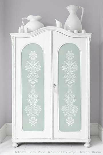 Stencil-Panels-on-Furniture-Door-Fronts