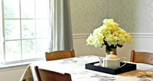 Sophisticated Dining Room Stenciling
