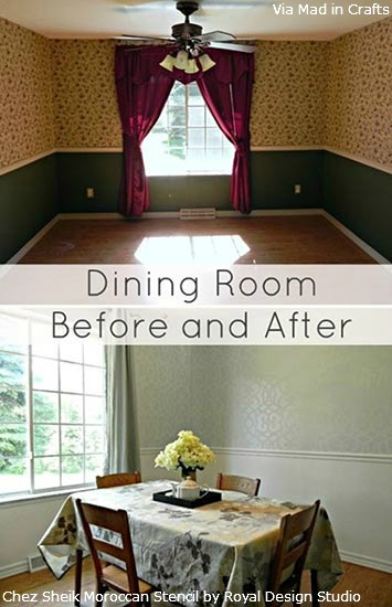 Stenciled-Dining-Room