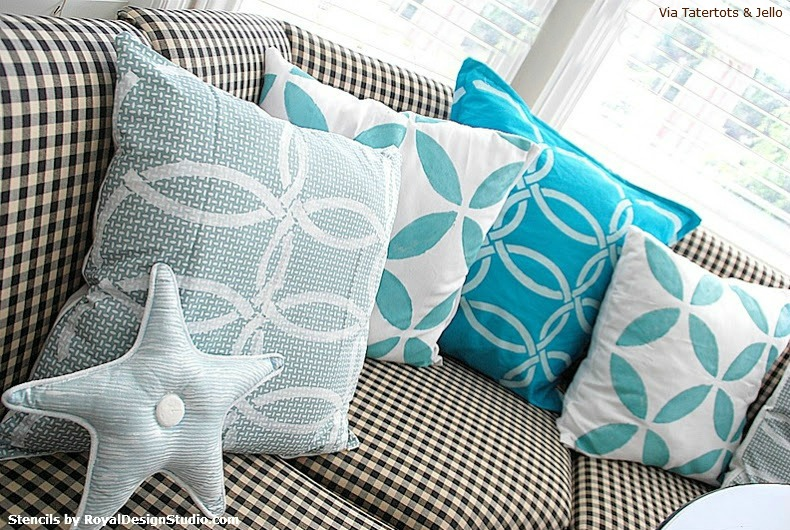 Stenciled_Pillows_with_Royal_Design_Studio