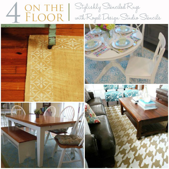 Stenciling-Rugs-with-Stencils