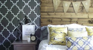 Rustic Chic Bedroom Stenciling!