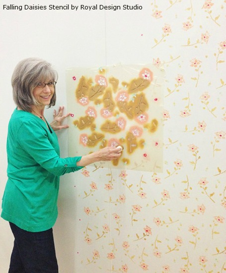 Stenciled Flower Power With Bonnie Christine Paint