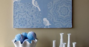 Canvas Lace Stencil How-to