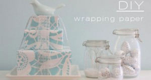 Wrapping it Up With Stencils: DIY Wrapping Paper Project