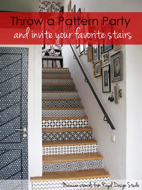 Moroccan Stencils On Stairs