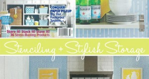 Stylish Kitchen Stencils in Storage Magazine