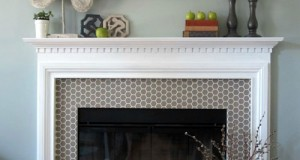 Stencil a New Fireplace Surround
