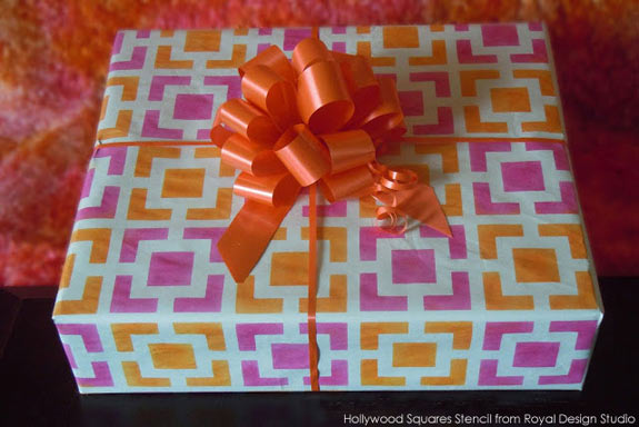 stenciled-gift-wrapping-pap