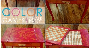 Colorful Stencil Games with Chalk Paint ®