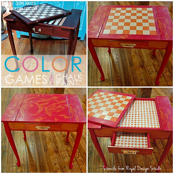 Colorful Stencil Games with Chalk Paint ® | Royal Design Studio Stencils