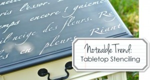 Top Off a Table with Stencils