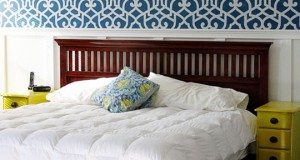 Sugar Bee Crafts Stenciled Bedroom Accent Wall