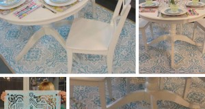 Yummy Cottage Style Stenciled Rug