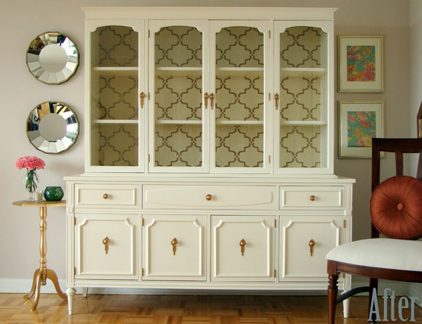 Furniture Makeover with Small Moorish Trellis Stencil | Royal Design Studio