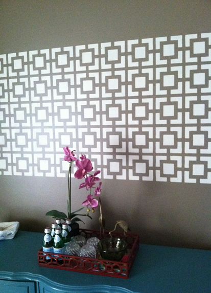 Wall Panel DIY | Hollywood Squares Stencil by Royal Design Studio