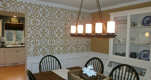 Chez Chic Stenciled Dining Room!